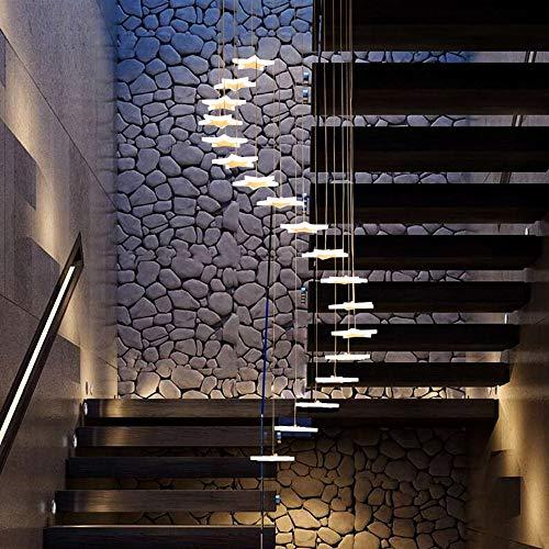Araña De La Escalera Estrella Creatividad De La Personalidad Pasillo Duplex Simplicidad Moderna Escalera De Caracol Araña Larga