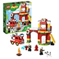 LEGO DUPLO Town Fire Station 10903 Building Blocks, 2019…
