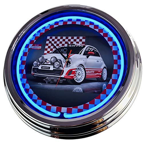 Neon Uhr Abarth Race-Car FIAT 500