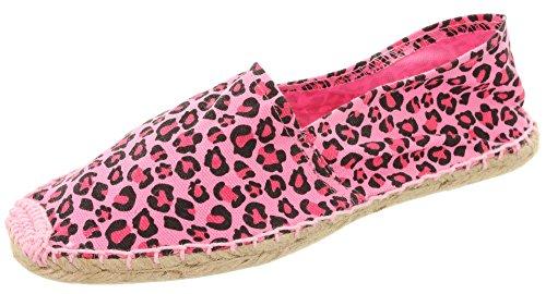 mikfunshopping espadrilles luipaard roze 42