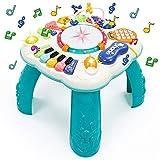 Fajiabao Mesa Actividades Bebe 6 en 1 - Juguetes Bebes 2 año Juguetes Niños Montessori Bebe Educativos Bebes Instrumentos Musicales con Sonidos y Luces Regalos para Niños Niñas 3 4 5 años