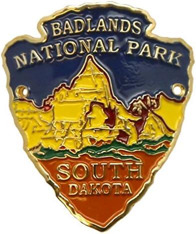 South Dakota Black Hills souvenir BADLANDS ARROWHEAD WALKING STICK EMBLEM product image