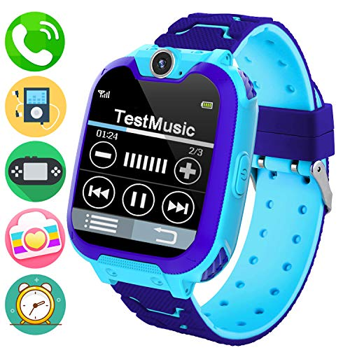 Kids Music Smart Watch Phone for Student, Smartwatch [SD Card...