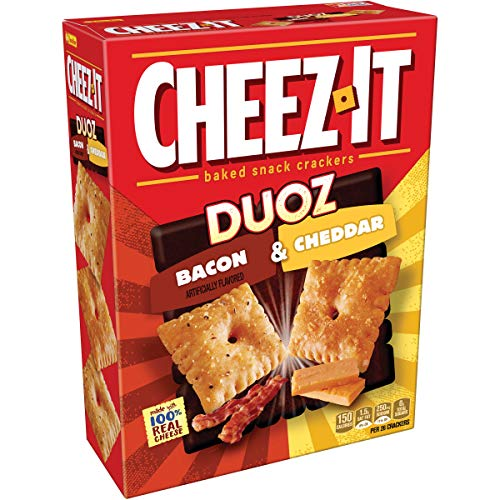 New Cheez-It Baked Snack Crackers Duoz Bacon & Cheddar12.4 oz ( 2 Pack)