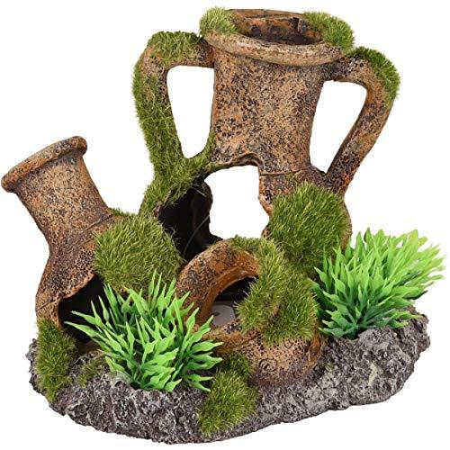 Kruik / Plant Aquarium Moza kruiken+Plant - 13 x 9 x 10 cm 13 x 9 x 10 cm