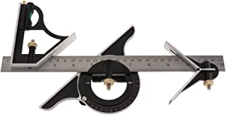 Baosity Adjustable Ruler Multi Combination Square Angle Finder Protractor Measuring Set Tool Universal Ruler Right Angle