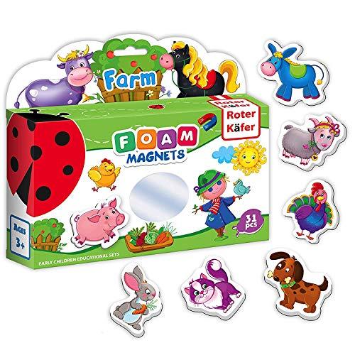 Roter Käfer Magneti frigo bambini Animali Fattoria per Bambini 31 pezzi- Animali magnetici- Calamite frigo bambini- Fattoria animali bambini- Giochi magnetici- Animali Bambini- Animali giocattolo
