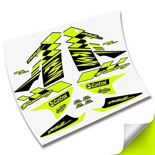 Kit Pegatinas CARENADO Completo para Moto RIEJU RS2 MATRIS Adhesivos VINILOS (Amarillo Fluor)