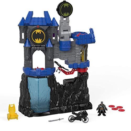 Imaginext DC Super Friends Batman, Batcueva Wayne Manor, juguetes niños 3 años (Mattel FMX63)