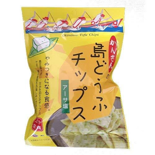 島どうふチップス アーサ塩 65g×10袋 あかゆら 沖縄豆腐 とうふがサクッ やみつき食感 ヘルシーなおやつ
