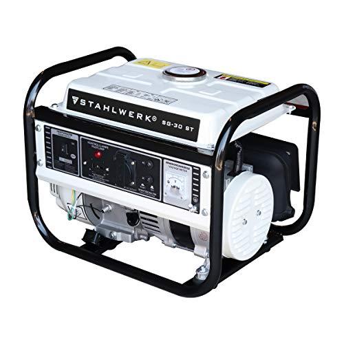 STAHLWERK Stromgenerator SG-30 ST, 3 PS Benzingenerator Stromerzeuger Notstrom Aggregat, zuverlässig und leistungsstark, verbrauchseffizient und wartungsarm