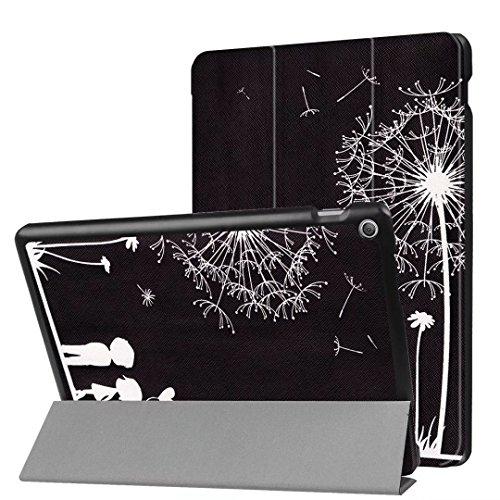 Xitoda Asus ZenPad 10 Etui, Ultra Slim, PU-Leder, Standfunktion, für Tablet Asus ZenPad 10 Z300C / Z300M / Z301M / Z301ML / Z301MFL Tablet Schutzhülle Smart Hülle couple noir