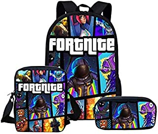 Fortnite games backpack sets for student,fashion cool cartoon waterproof bookpack sets