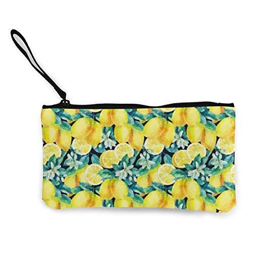 Aquarell Zitrone Obst Zweig Blätter Muster Muster Tragbare Clutch Brieftasche Wristlet Damen Hochzeitsfeier Handtasche, Tie Dye Alien, Diebstahlsicheres Slim Wristlet