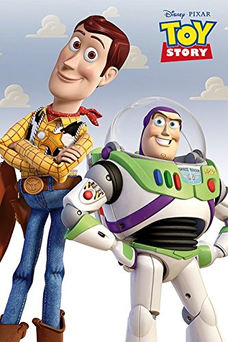 Toy Story - Disney/Pixar Movie Poster/Print (Buzz Lightyear & Woody) (Size: 24 inches x 36 inches)