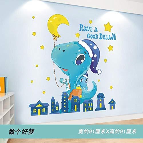 Hauteur autocollant dessin animé autocollant mural chambre d'enfant décoration murale environnement disposition matériel autocollant mural-Have a Good Dream (New Imposition) _Big