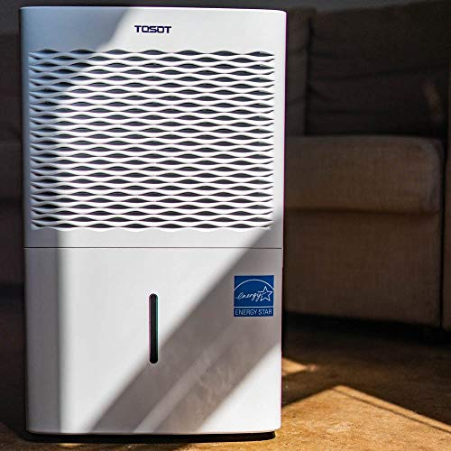 TOSOT 1,500 Sq. Ft. 30 Pint Dehumidifier - Energy Star, Quiet, Portable with Wheels, and Continuous Gravity Drain - Efficiently Removes Moisture for Home, Basement, Bedroom or Bathroom