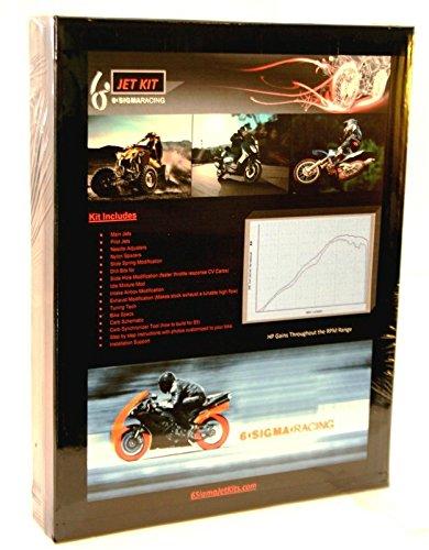 6 Sigma Carb Jet Kit fits 1995-98 Honda CBR600F3 CBR 600 F3 PC31 Custom Performance Stage 1-3 Carburetor Jetting