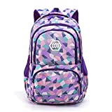 Mochilas Escolares Juveniles Poliéster Impermeable Backpack Multi-Función Gran Capacidad Mochila Púrpura