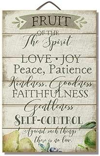 "Fruit of the Spirit 12"" x 18"" Wood Slatted Sign"