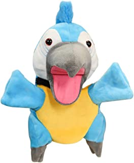 Toyvian Plush Parrot Hand Puppets Birds Stuffed Animals Toys for Imaginative Pretend Play Stocking Storytelling Kindergart...