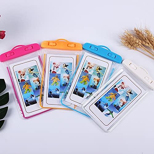 IPX8 Funda impermeable para teléfono, bolsa de teléfono subacuática con cordón para natación, esnórquel, lluvia, polvo, compatible con iPhone 12/12 mini/12 Pro/Pro Max/11 Pro hasta 7 pulgadas