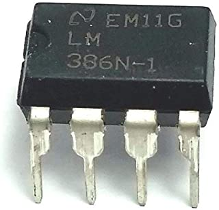 National Semiconductor LM386N-1 LM386 Wide Input Voltage Low Power Audio Amplifier with Internal Gain DIP-8 (Pack of 20)