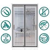 Auxmir Fliegengitter Balkontür Magnet Insektenschutz 110x220cm, Magnetvorhang für Balkontür...