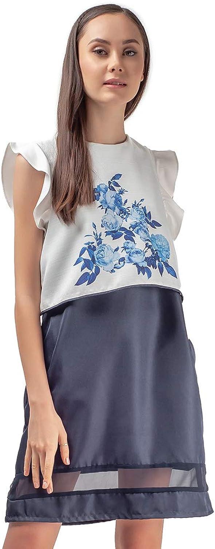 Plains and Prints Womens Riviera Jolleen Sleeveless Dress