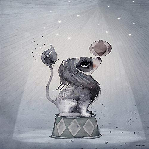 mmwin Conejo nórdico de Dibujos Animados decoración de Habitaciones Infantiles Pintura Decorativa de Conejo 630-4 50X70cm