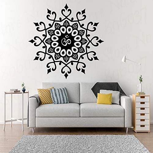 Indian patroon wanddecoratie sticker mandala bloem wanddecoratie, woonkamer, hoofdeinde, wanddecoratie, hart muursticker 42x42cm
