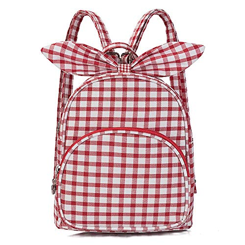 Lilybrand Einfacher adretter Plaid gedruckt Kinderrucksacks nette süße Kaninchen Grundschule Rucksack