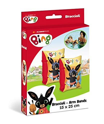 Mondo -16841 Mondo Toys-Bing Arm Bands-Apoyabrazos de Seguridad de PVC Aptos para niños de 2 a 6 años con Peso 6 – 20 kg – 16841, Color, 16841