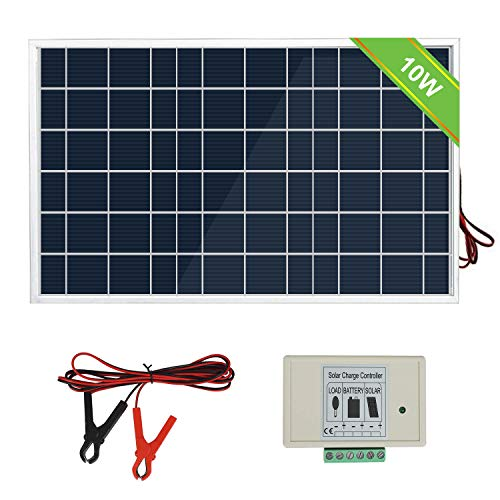 ECO-WORTHY Kit de sistema de panel solar de 10 vatios: 1 mó