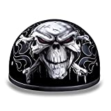 Daytona Helmets Motorcycle Half Helmet Skull Cap- Cross Bones 100% DOT Approved...