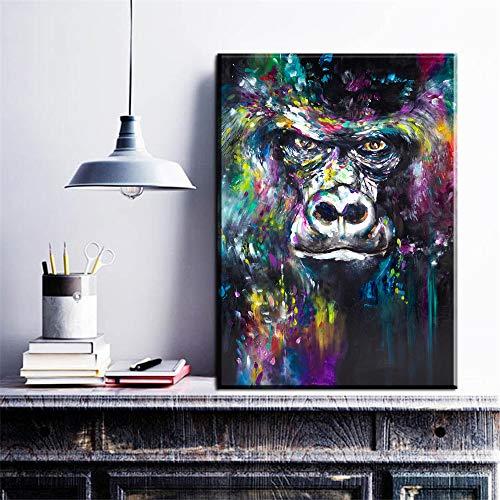 nobrand Leinwand Gemälde Morgendämmerung des Planeten der Affen Film AFFE Leinwand Poster Druck für Wohnzimmer Schlafzimmer Wohnkultur 60x90cm, kein Rahmen