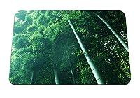 26cmx21cm マウスパッド (竹の茎はrazmytostを下から葉します) パターンカスタムの マウスパッド