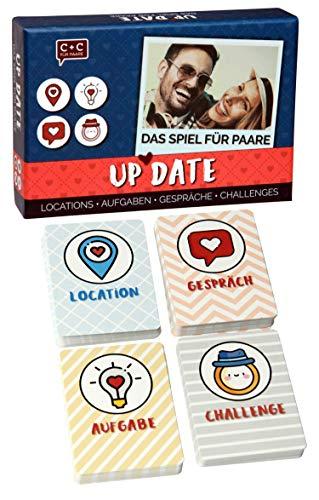 Up Date - Besondere Date-Ideen für Paare. Außergewöhnlichen Locations, Gesprächsthemen, Aufgaben und Challenges für unvergessliche Momente zu zweit. Spiel mit über 100 liebevoll designten Karten.