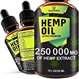 Premium Extract & Great Taste - Made from the finest ingredients, absolutely natural. Contains Organic, Non-GMO, Ultra-purified Hemp Oil. 100% Natural - Our oils contain a variety of essential vitamins, minerals, fatty acids. No stress & Anxiety - He...