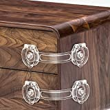 Cabinet Locks for Babies, Baby Proofing Safety Locks, 10 Pack DUOSI No Screws and Magnets Fridge Refrigerators Locks Baby Proofing Child Safety Cabinet Locks for Kitchen Cabinets and Drawers