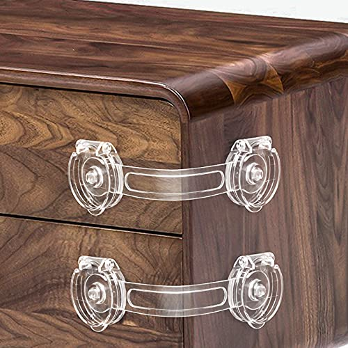 Cabinet Locks for Babies, Baby Proofing Safety Locks, 10 Pack DUOSI No...