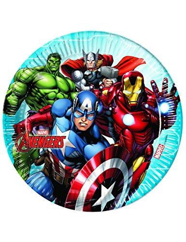 8 Assiettes en carton 23cm Avengers Mighty - taille - Taille Unique - 307309