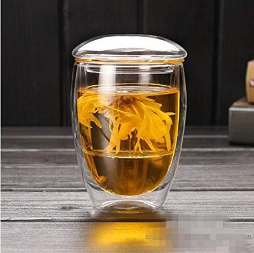 Tetera De Vidrio Teteras Tetera de vidrio 350 ml / 450 ml Taza de leche transparente de vidrio transparente Taza de té de café Tetera Tetera con infusor de té Filtro y tapa Tapa de oficina-350 ml
