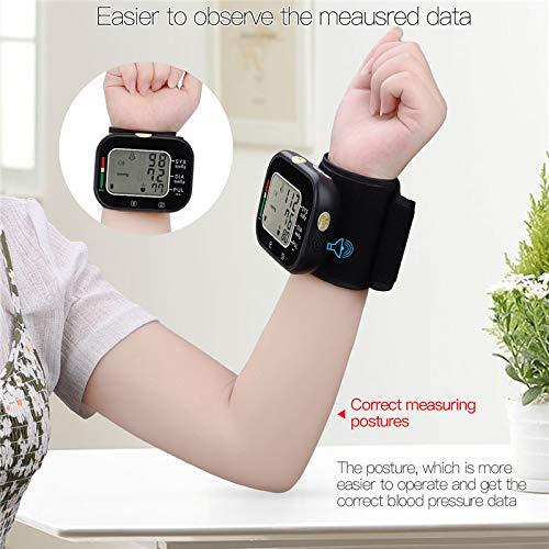 Automatische Pols Bloeddrukmeter Digitale Manchet Bloeddrukmeter 99 Geheugen Lezen Bloeddrukmeter Engelse Spraakuitzending