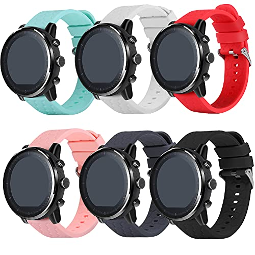 Compatible with Letsfit EW1 Band, FitTurn Replacement Quick Release Silicone Strap Band Women Men Girl Color Straps Compatible with Letsfit EW1 / IW1 / IW2 Smartwatch