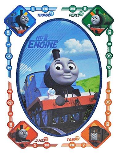 alles-meine.de GmbH 5 TLG. Set Fensterbild - Thomas die Lokomotive - Sticker Fenstersticker Aufkleber - selbstklebend + wiederverwendbar - Fensterbilder / z.B. für Fenster und Sp..