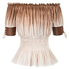 SCARLET DARKNESS Half Sleeve Lace-Up Off Shoulder Women Shirt Tops T Shirt Steampunk Cotton Blouse 1# S SL3S20-1 #1