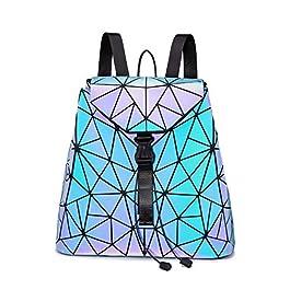 LOVEVOOK Sac à main géométrique pour femme, sac à main, sac à bandoulière, sac à dos, sac à dos holographique, sac…