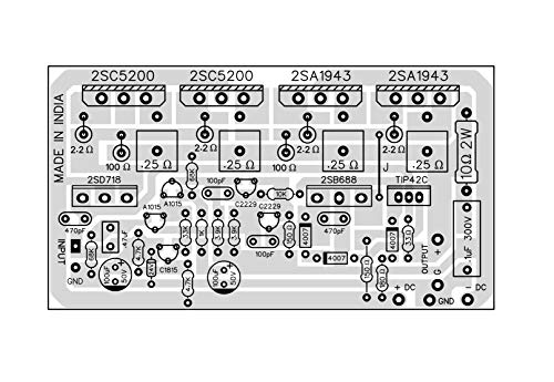 VRS 200 Watt Mono Amplifier Board Using 2SC5200 + 2SA1943 (PCB + Driver Section Assembled)