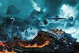Panzer Flugzeug Gewitter Kampf Bild XXL Wandbild Kunstdruck